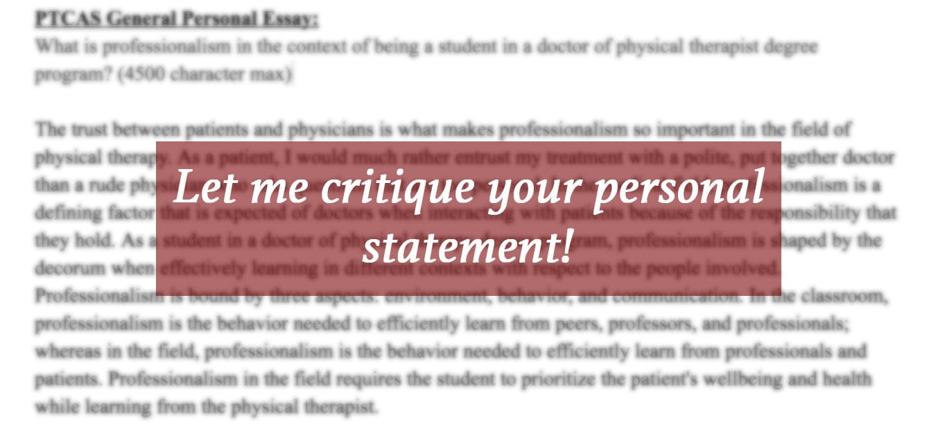 I Will Critique Or Revise Your College Personal Statement