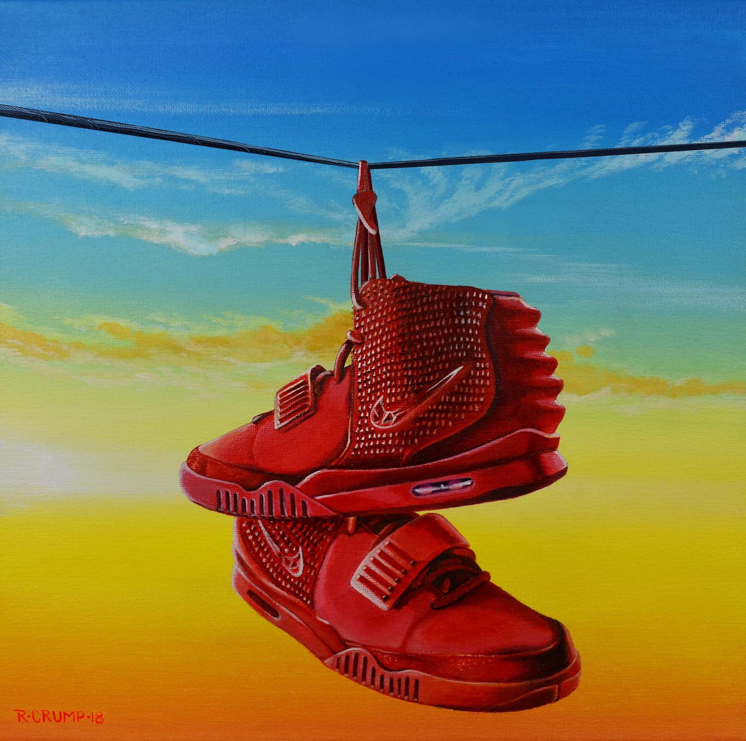 akrapheal  I will paint your favorite pair of shoes hanging by their laces  for $150 on www.fiverr.com