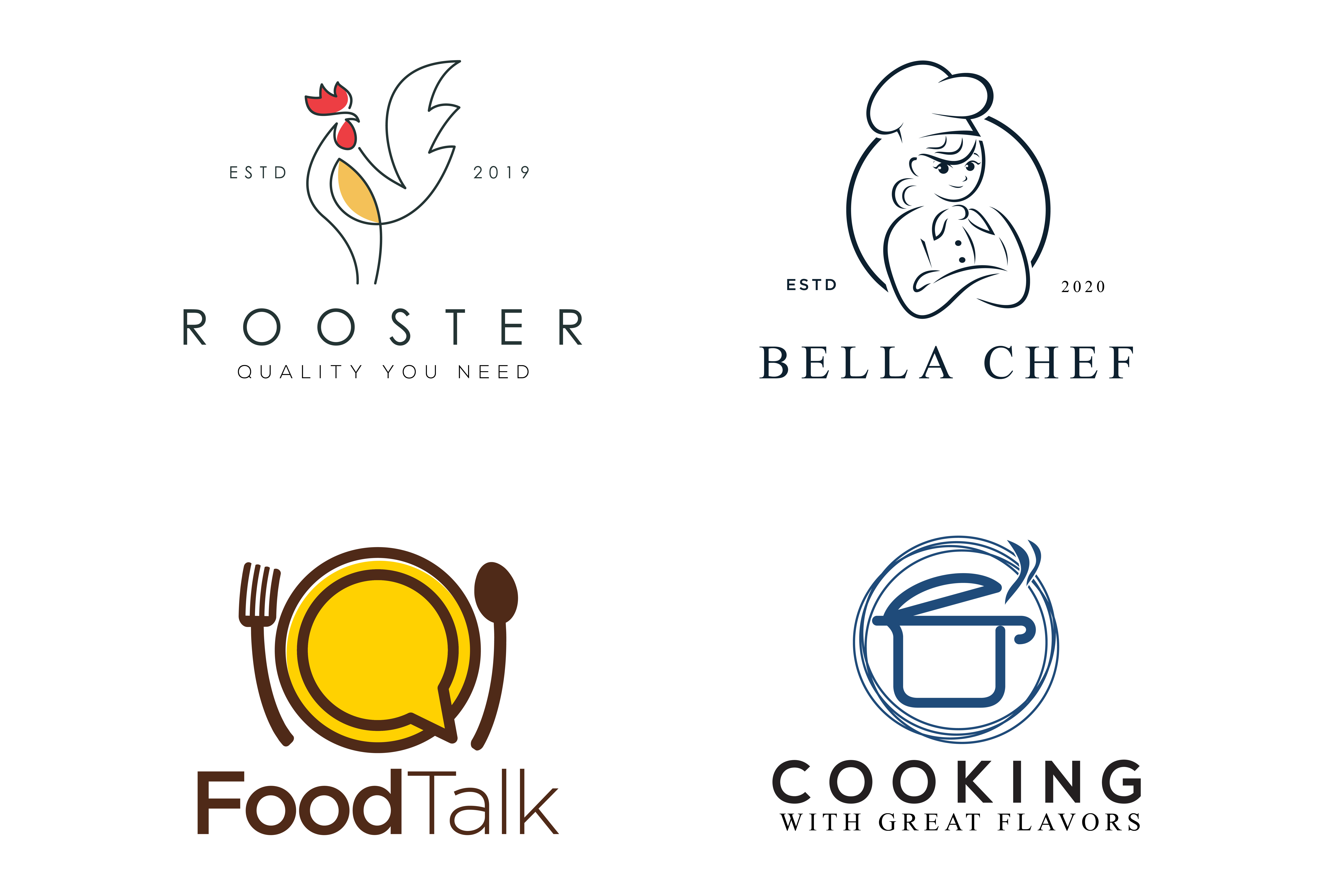 Do Attractive Restaurant Bakery Cafe Or Food Logo By Brand Naeem