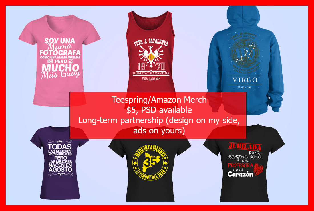 Design An Awesome T Shirt For Teespring Amazon Merch Spreadshirt By
