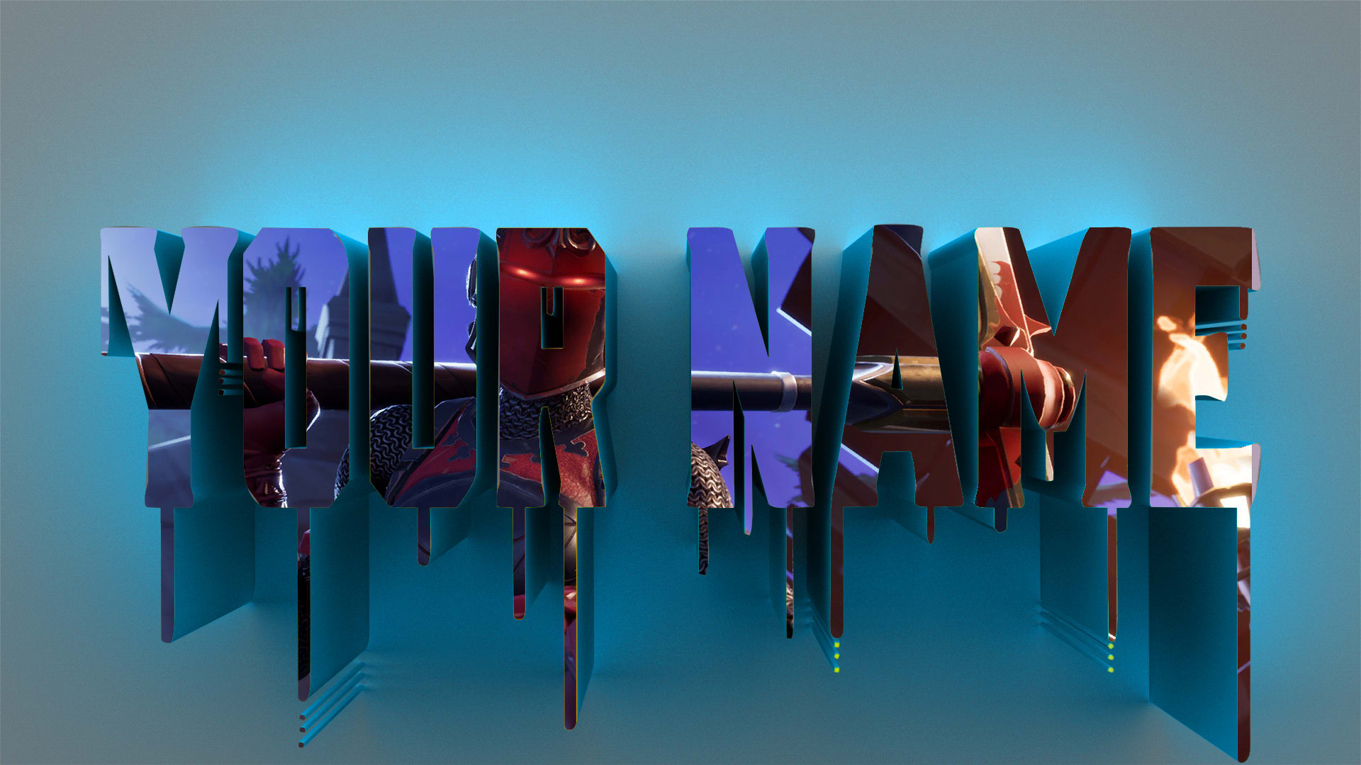 Do Fortnite Logo With Your Name 3d By Kryatic