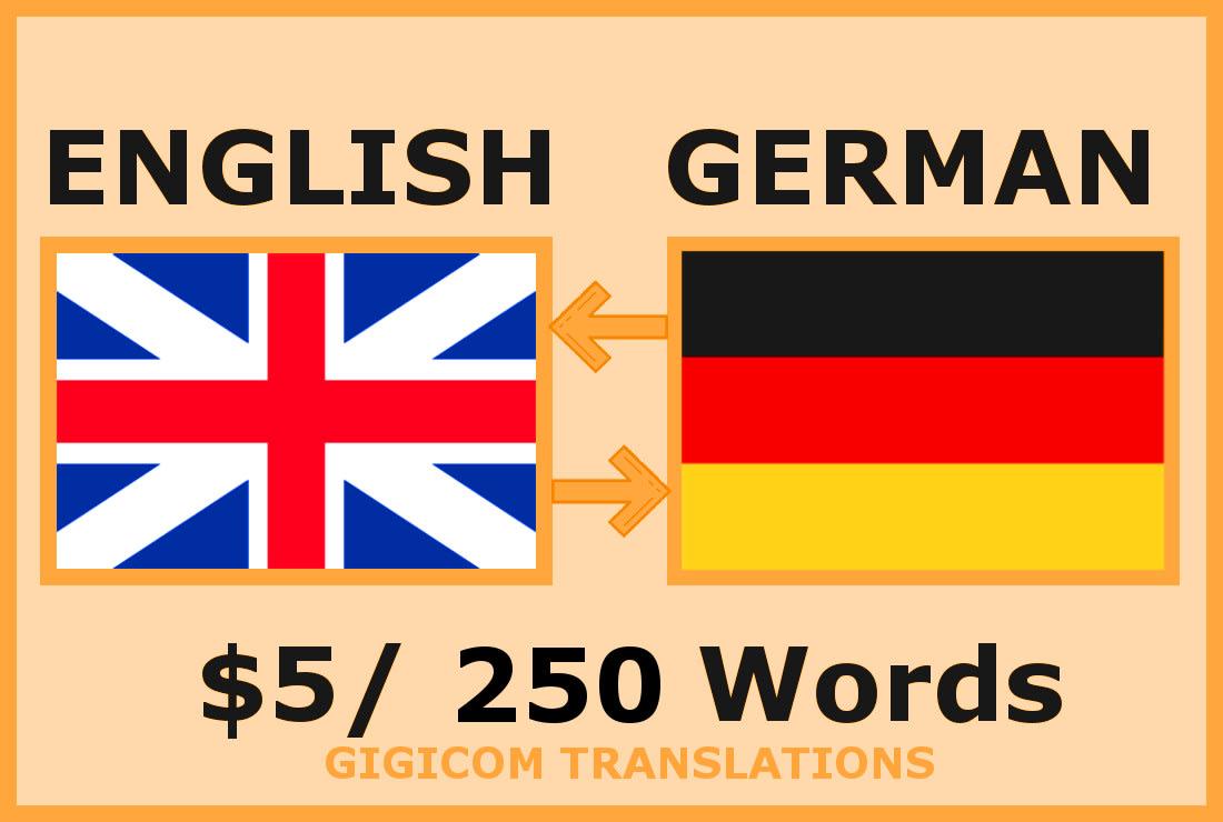 Perfectly translate english to german or german to english ...