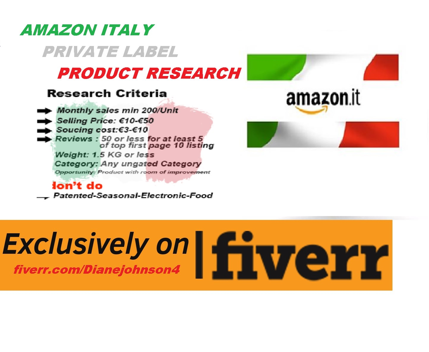 find you best selling private label product for amazon italy