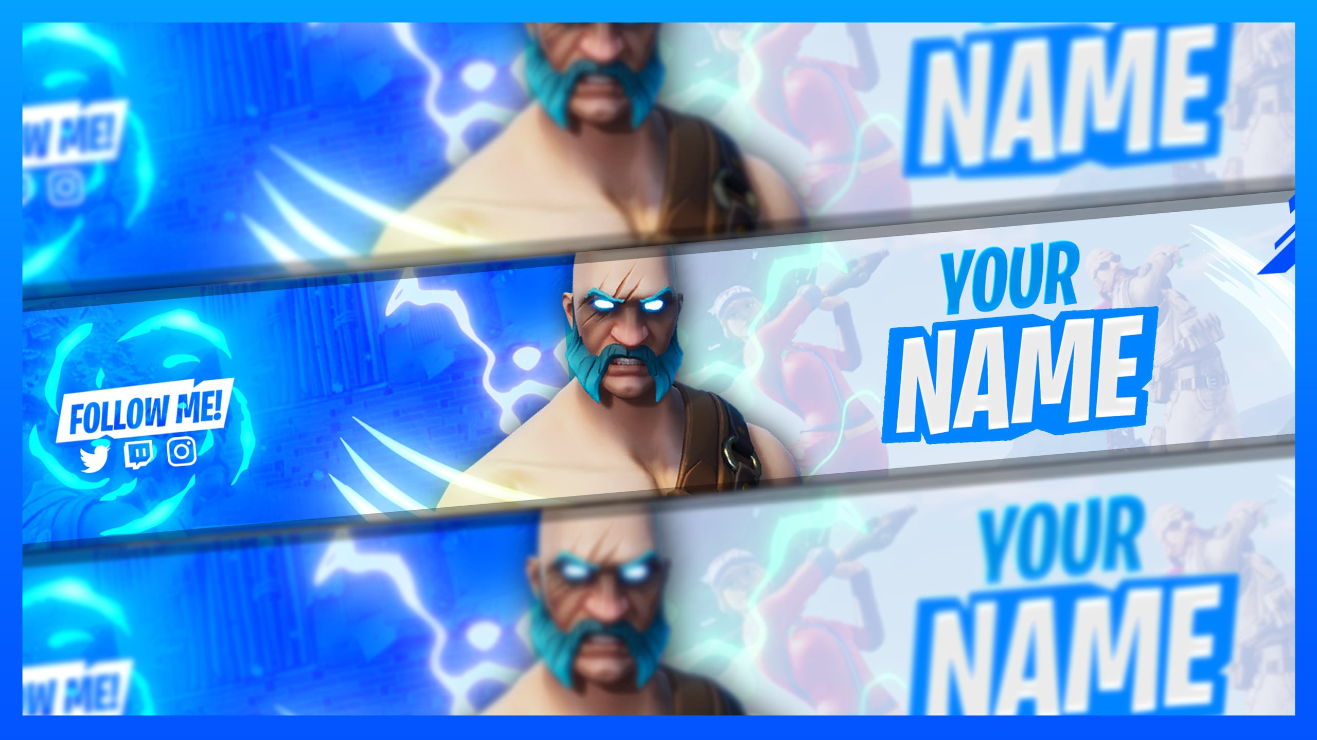 Design A Fortnite Youtube Or Twitch Banner And Logo By Mbrostudio