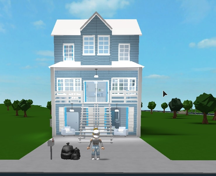 Build An Amazing Modern Bloxburg House For You Iflash Salei By