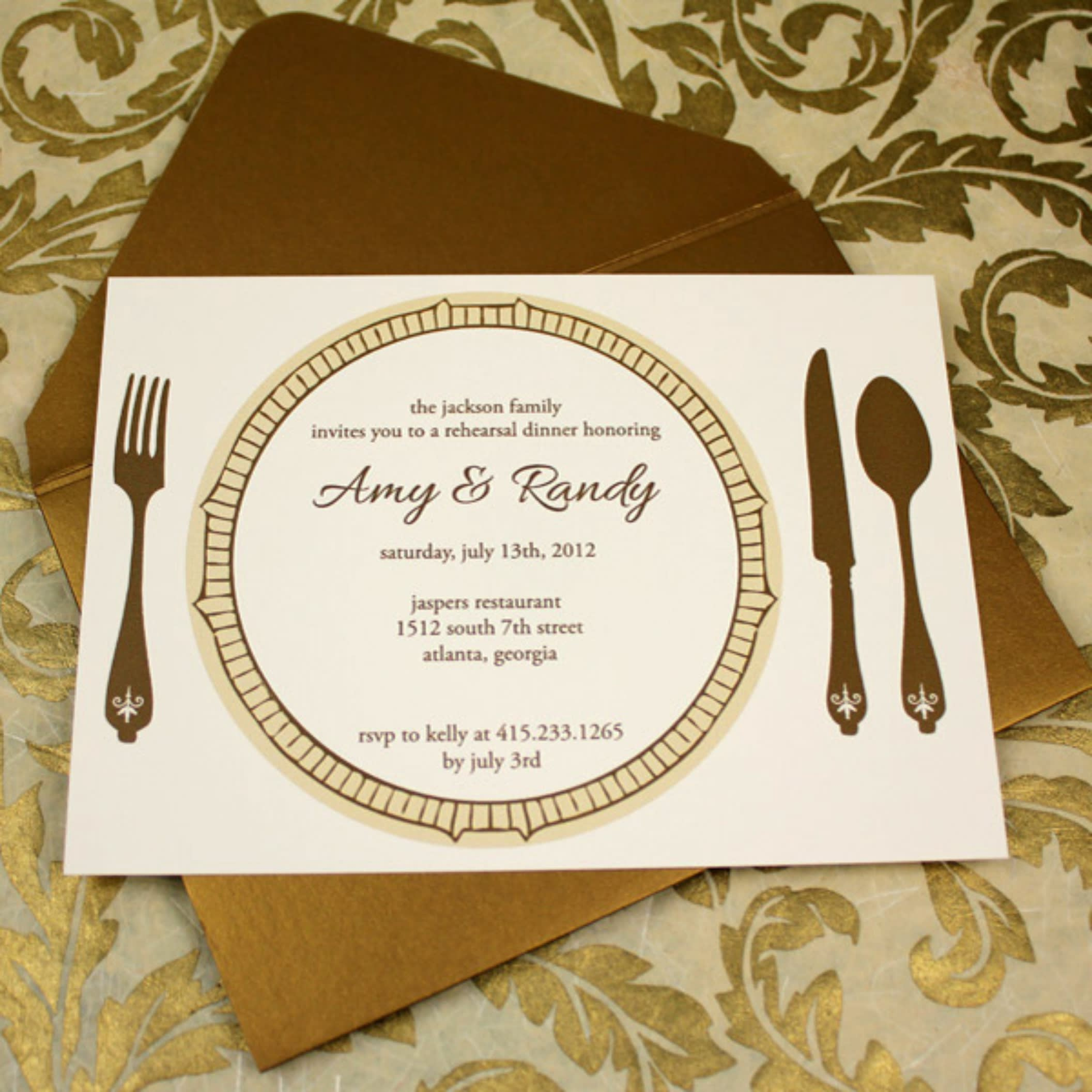 Create, dinner party invitation, save the date, rsvp card by Paulstan22