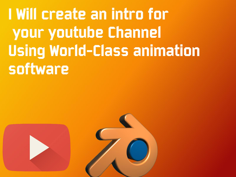 create a short youtube channel intro or outro on blender