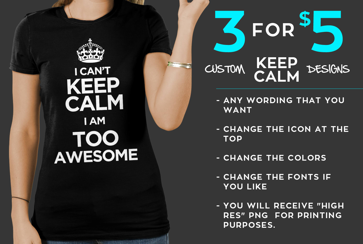 Create 3 Custom Keep Calm Designs For Posters Or Tshirts By Manishman592