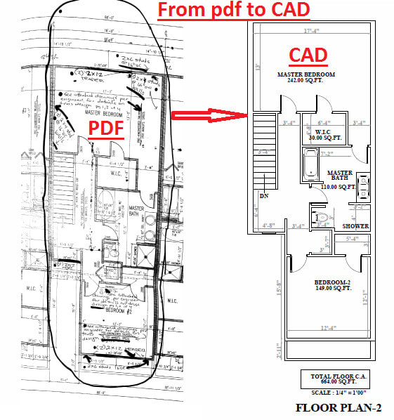 Convert Hand Drawings To Autocad Pdf To Cad Drafting Detailing By Tketan24