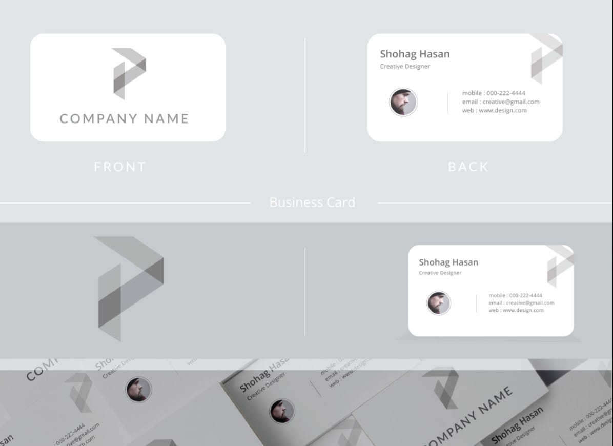 Design professional, corporate and stylish business card by