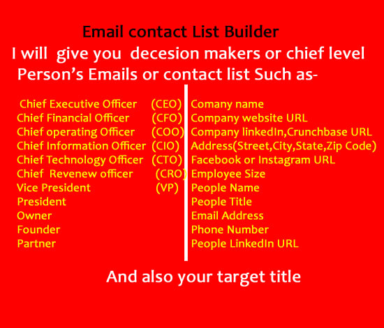 collect ceo, owner or decision makers email list