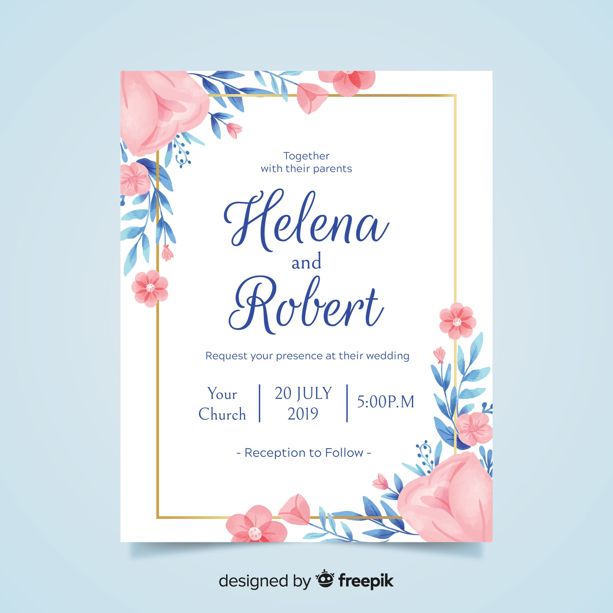Design elegant invitation cards for your function by Aleenamalik135 | Fiverr