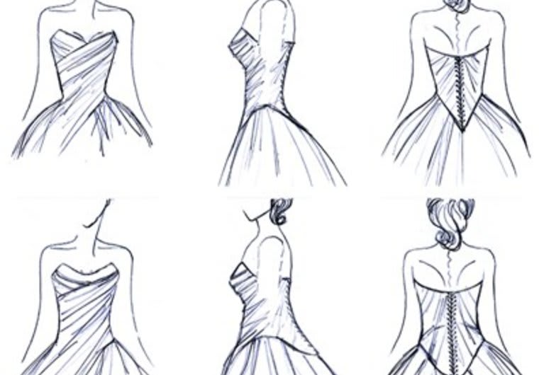 Make Sketches Of Dresses And Act As A Designer By Khitran7