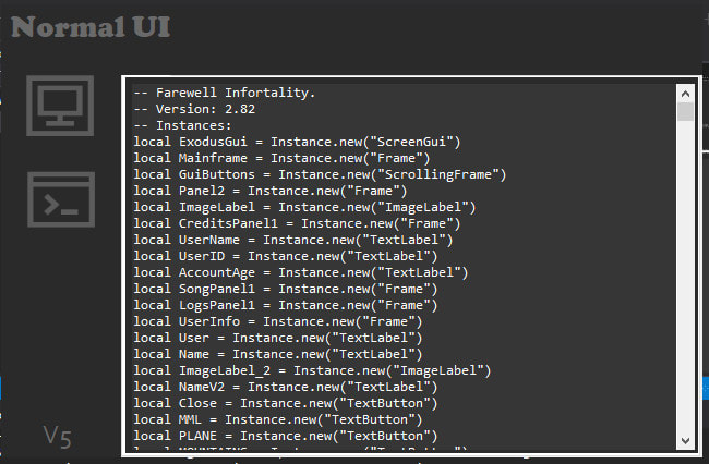Create A Ui For Roblox Exploits By Rbuicreator