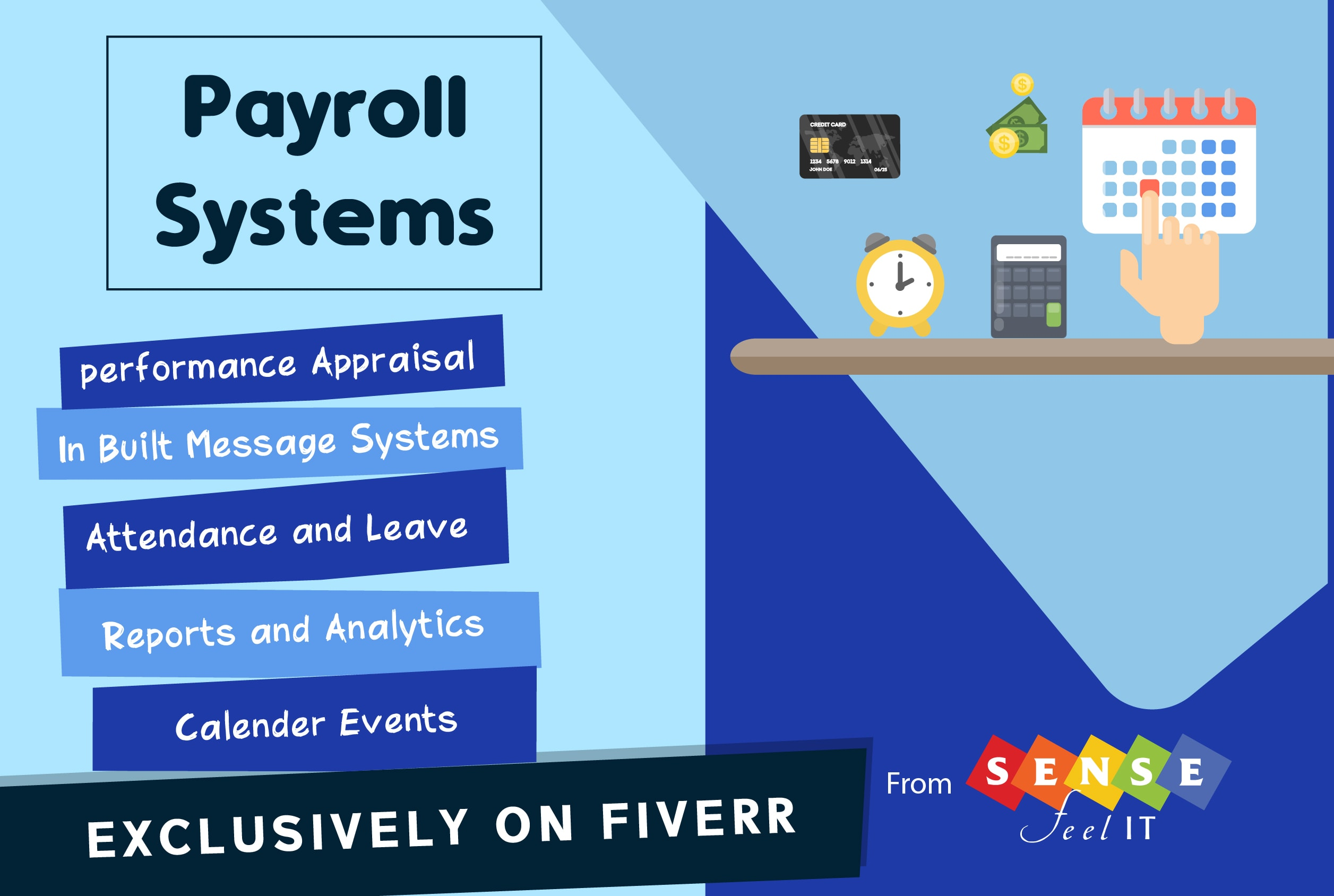 Develop payroll system software by Sensefeelit | Fiverr