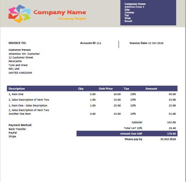 Design Xero Branding Theme Custom Invoice Template By Qboproadvisor