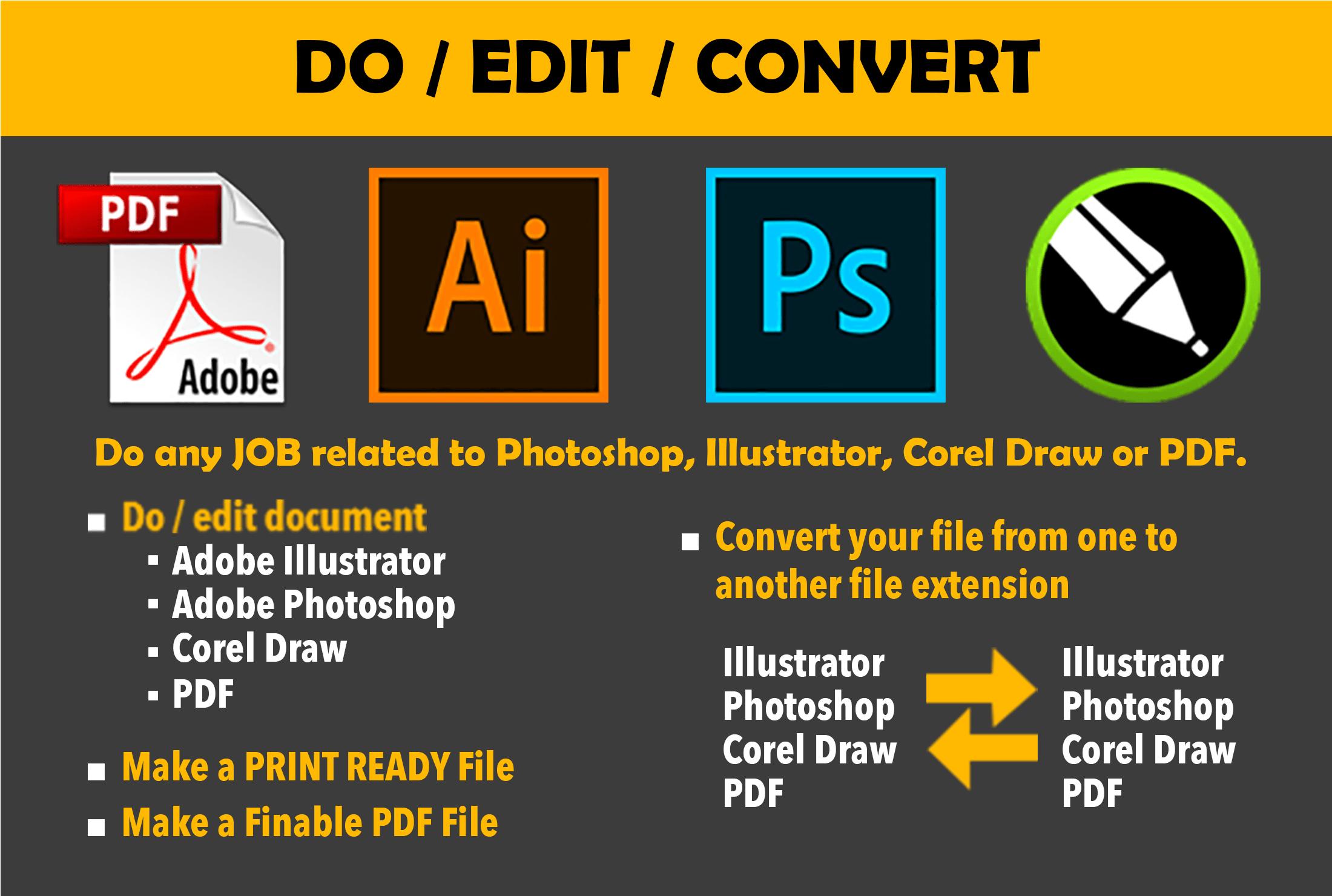 Do Any Job Of Photoshop Illustrator Corel Draw And Pdf By Zainshahid3