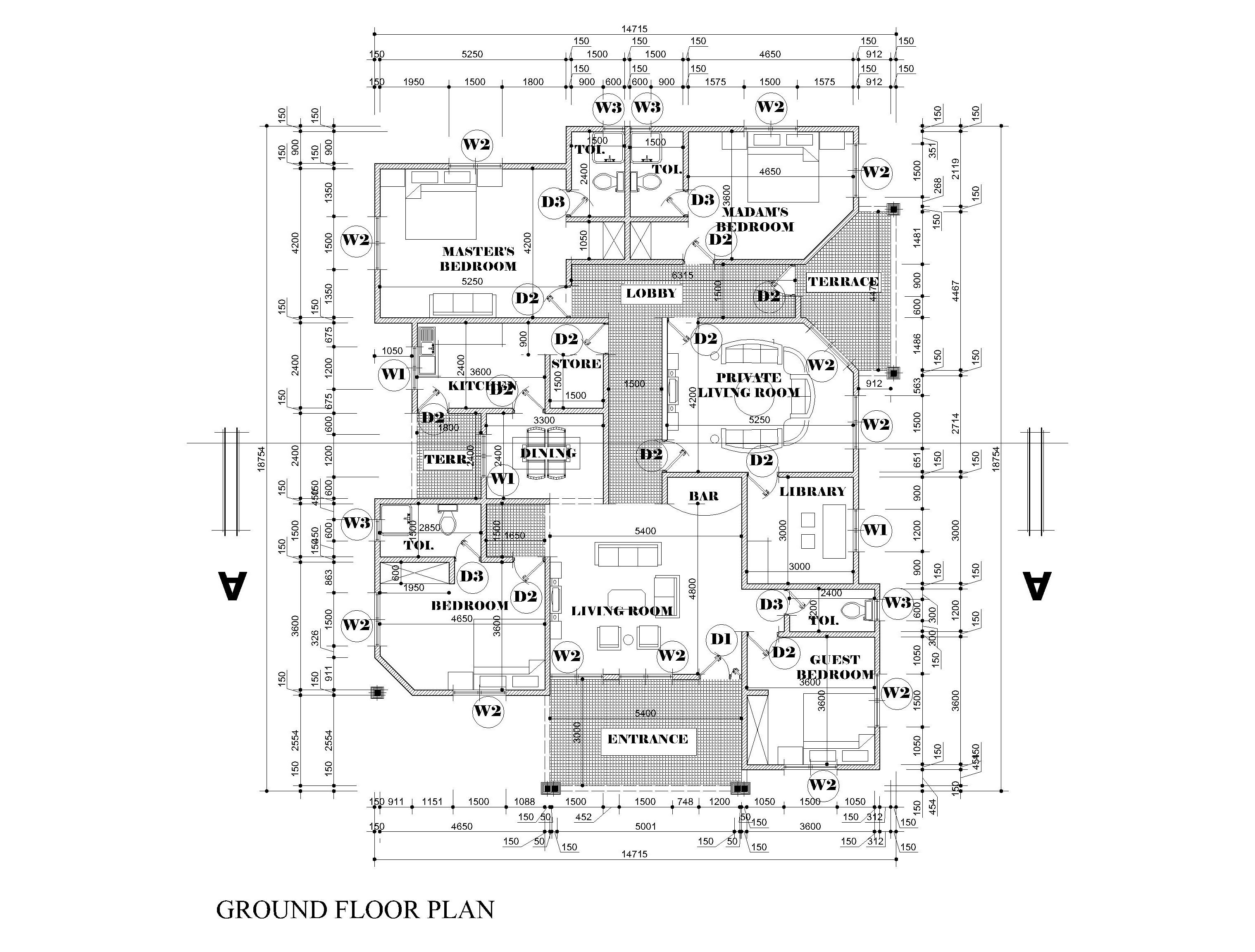 floor plan for building permit