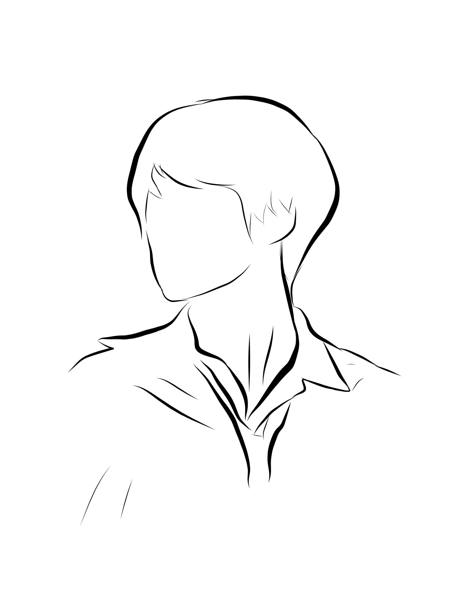 draw an outline of a picture of your kpop bias on my phone