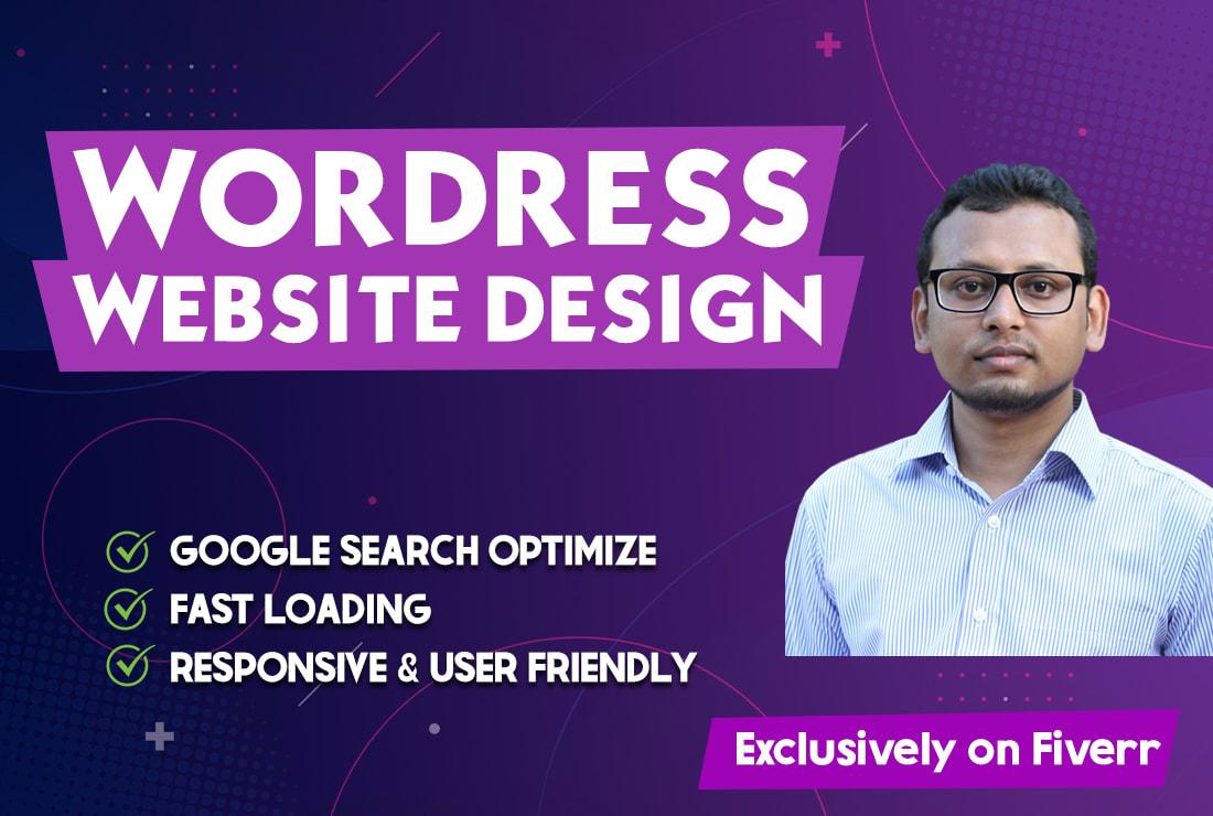 create wordpress website design on fiverr - WordPress website creation gig