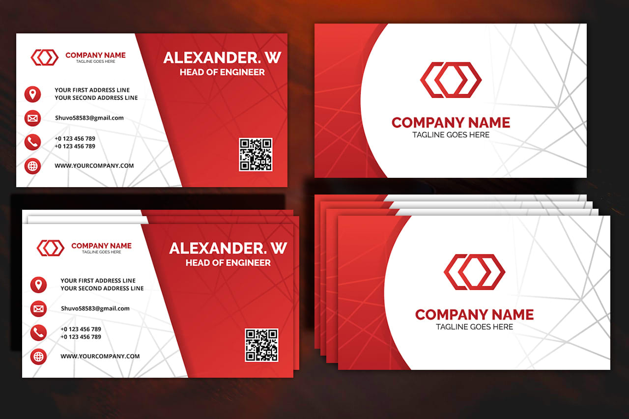 Create stylish and professional business card for you by Shuvo58