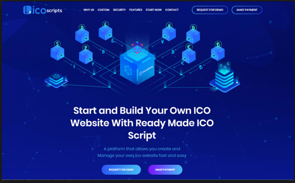 build and develop you the best ico website