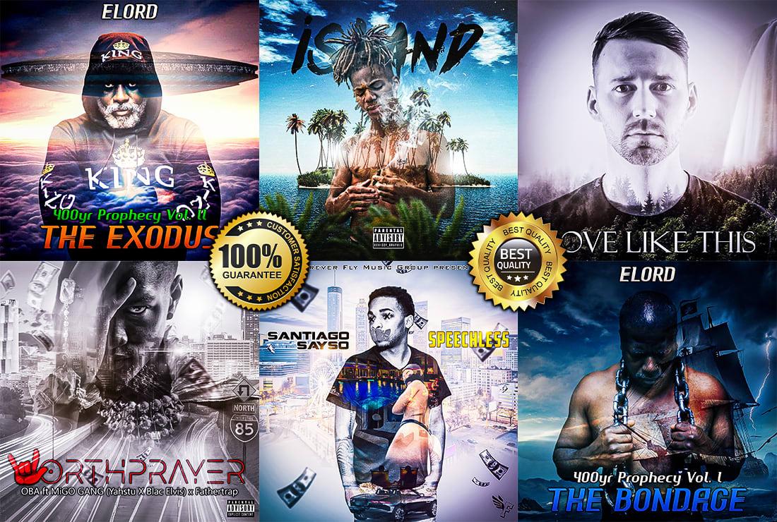 Design Double Exposure Mixtape Covers And Album Covers By Srdesign4u
