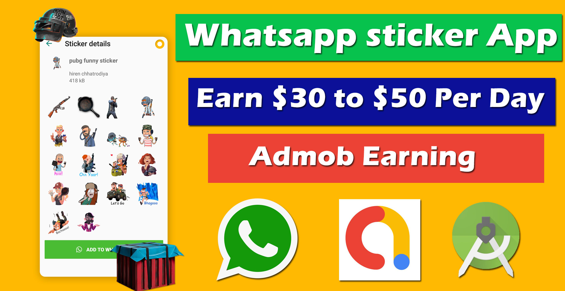 I will create your own whatsapp sticker app