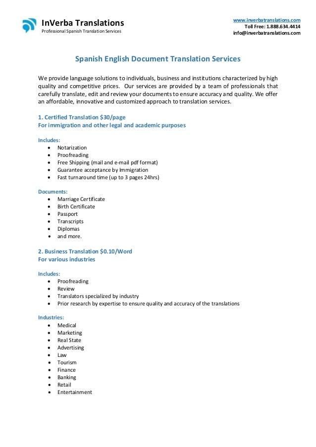 translate document spanish to english free