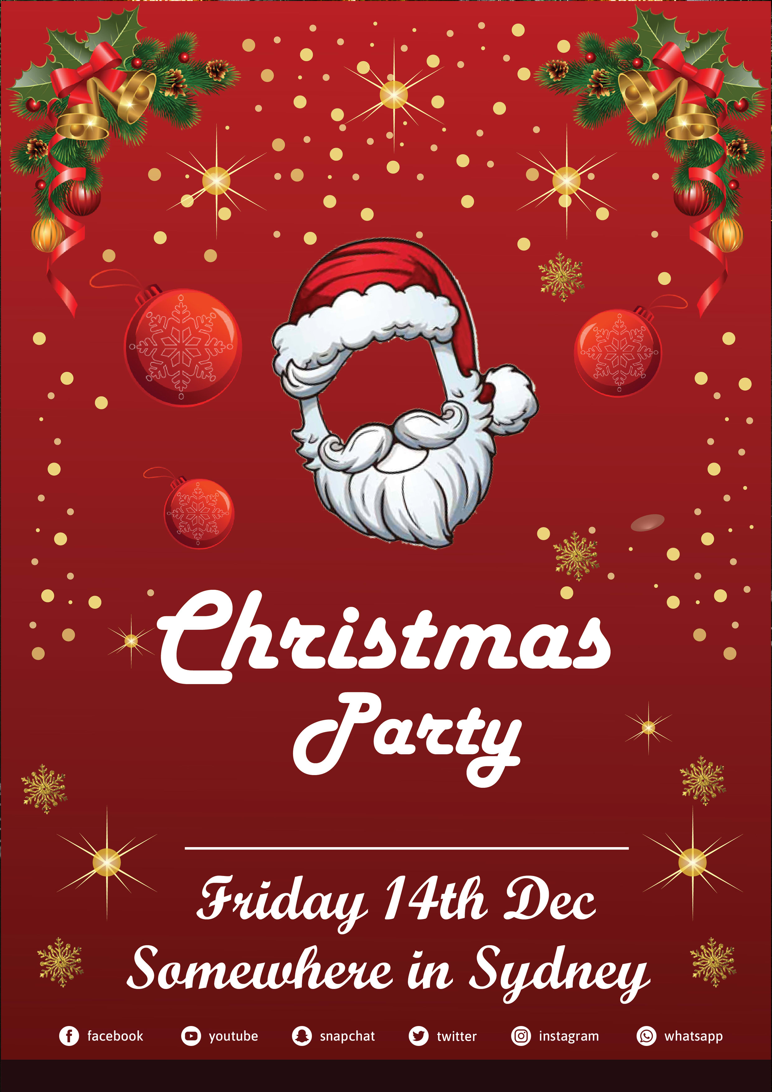 Do christmas party card, flyer, invitation card by Jerry_mrong