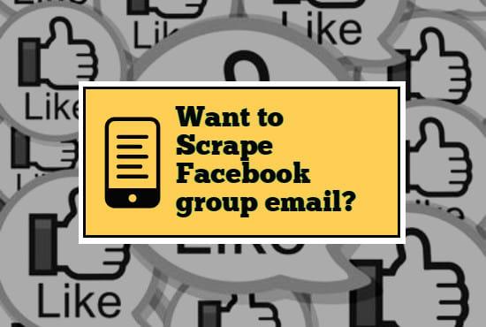scrape facebook group member email