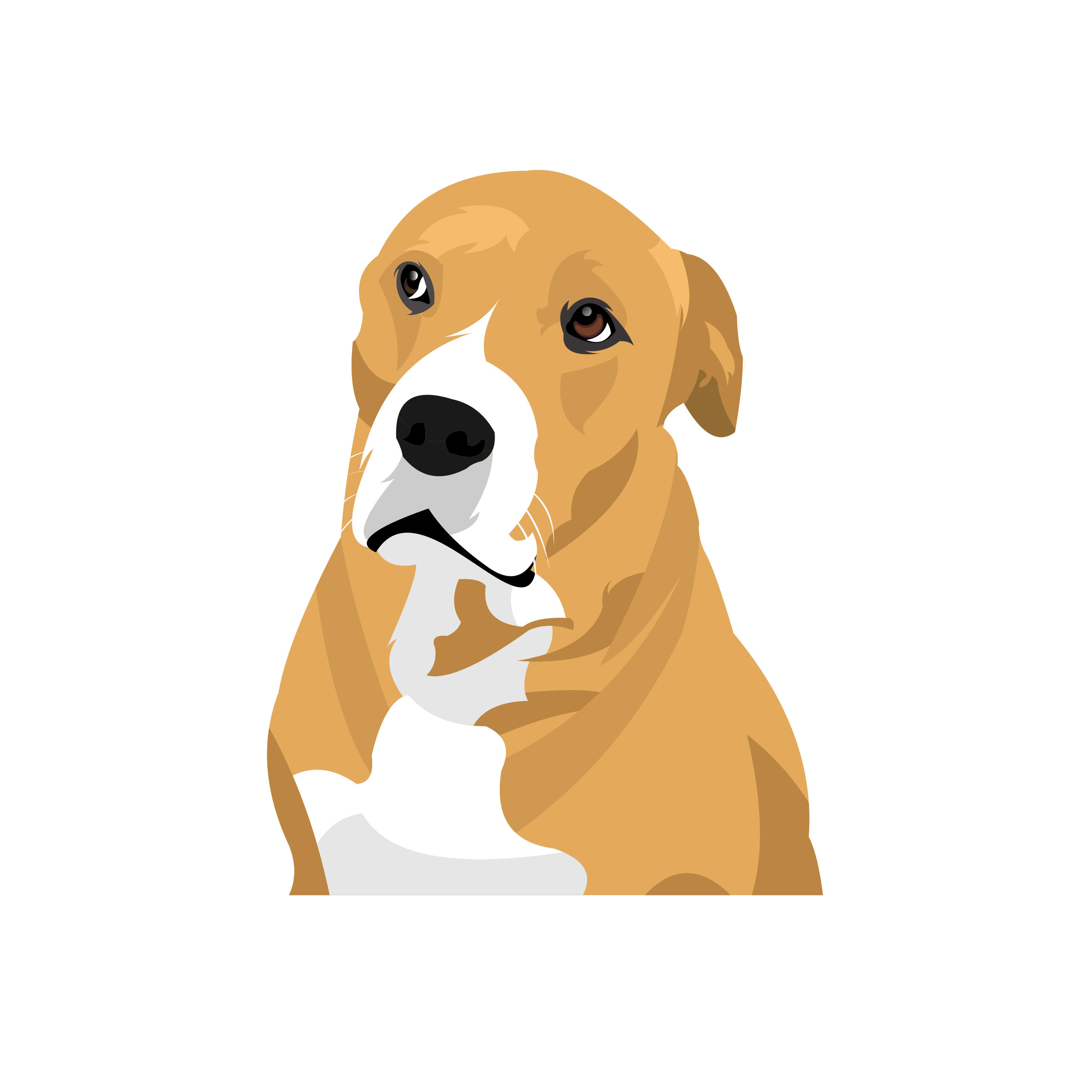 Make Vector Illustration Dog Cat Animal Pet Cartoon Portrait By Nirmalagraphics