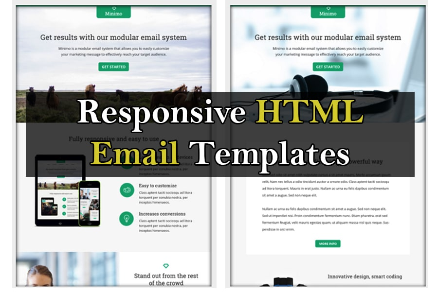 Send 200 Html Email Templates For Mailchimp By Createdeck