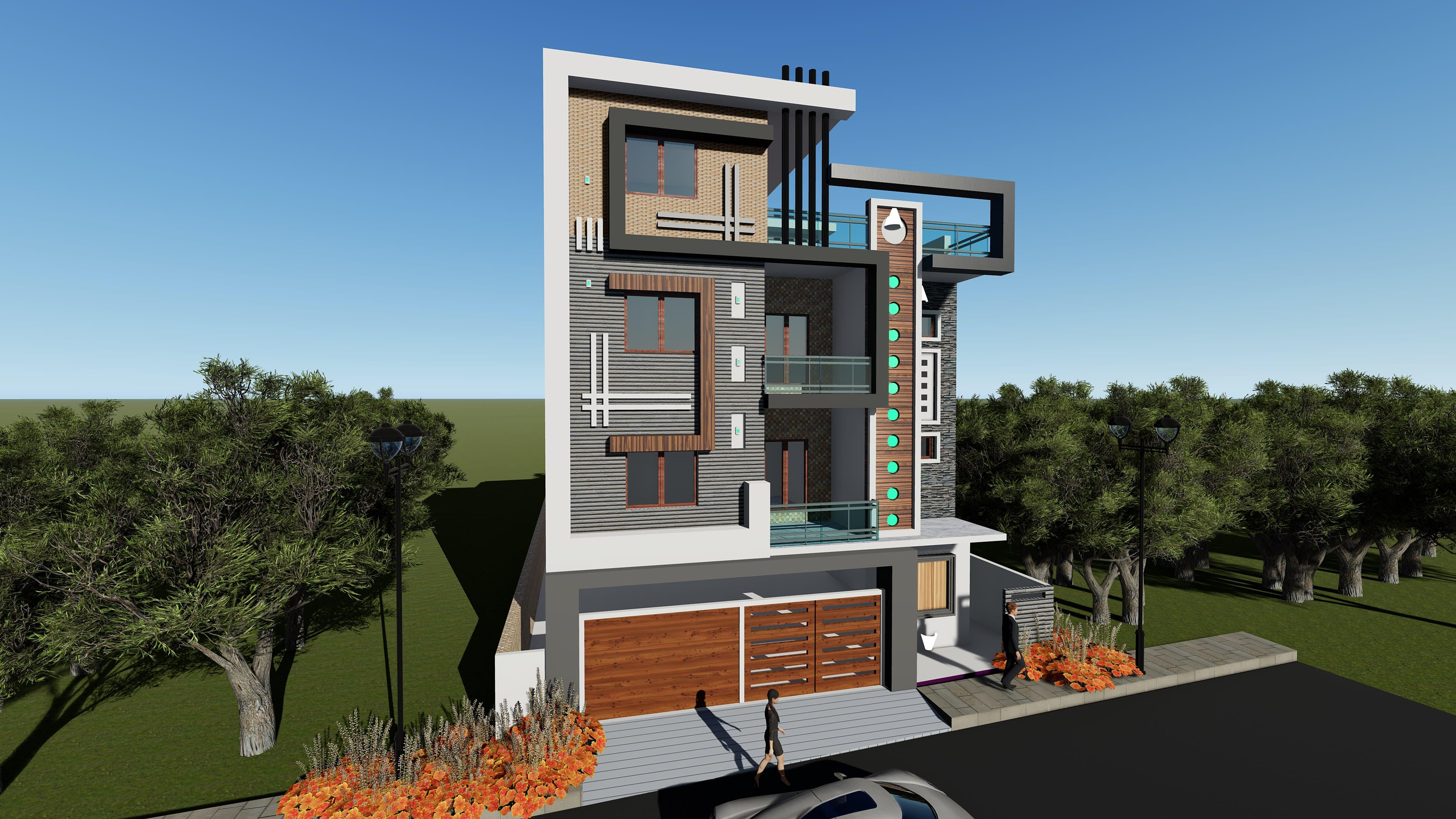 Duplex House Plan And Elevation By Vittalrathod