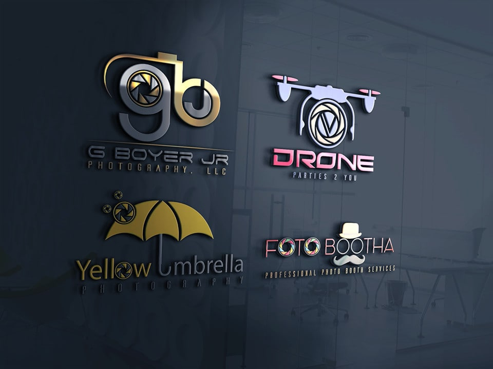 Design 2 Creative Photography Logo With Free Watermark By Blueprint Port