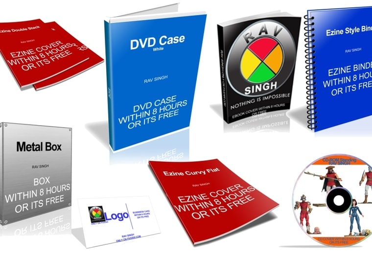 Create 2d 3d Ebook Cover Cd Dvd Software Box Business Card By Ravsingh