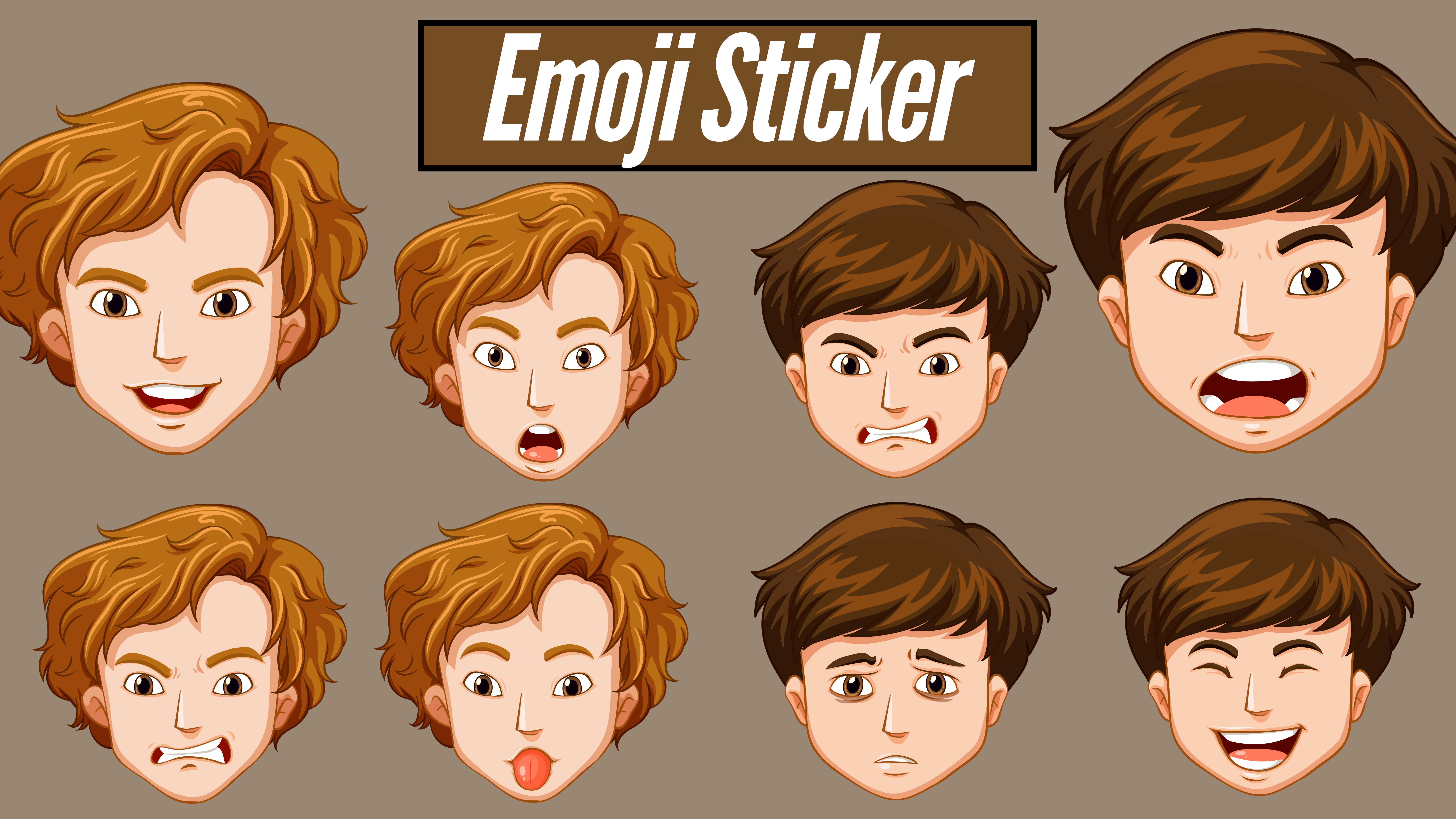 I will draw custom emoji chat stickers or any emoticons