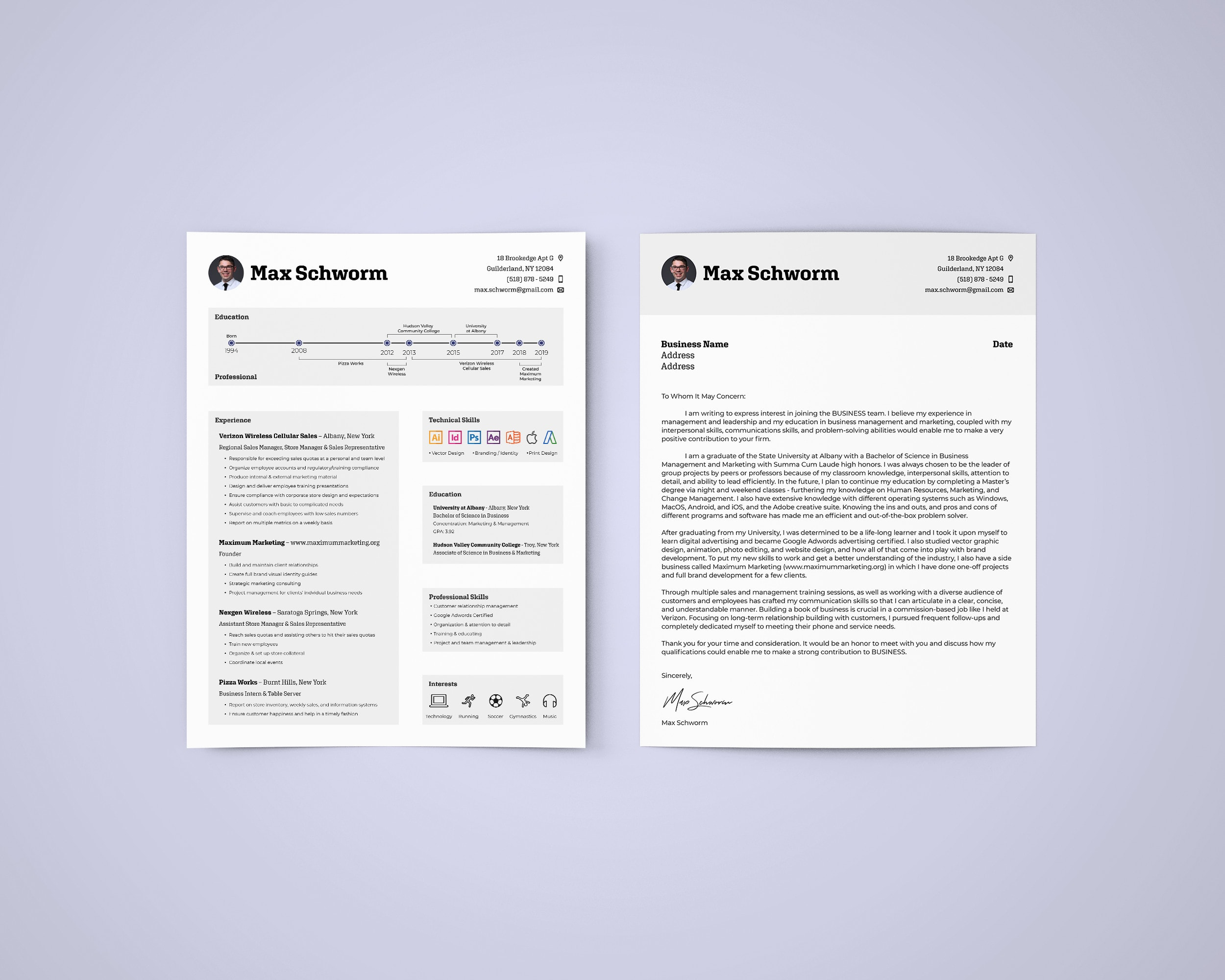 Create A Custom Modern Resume And Cover Letter