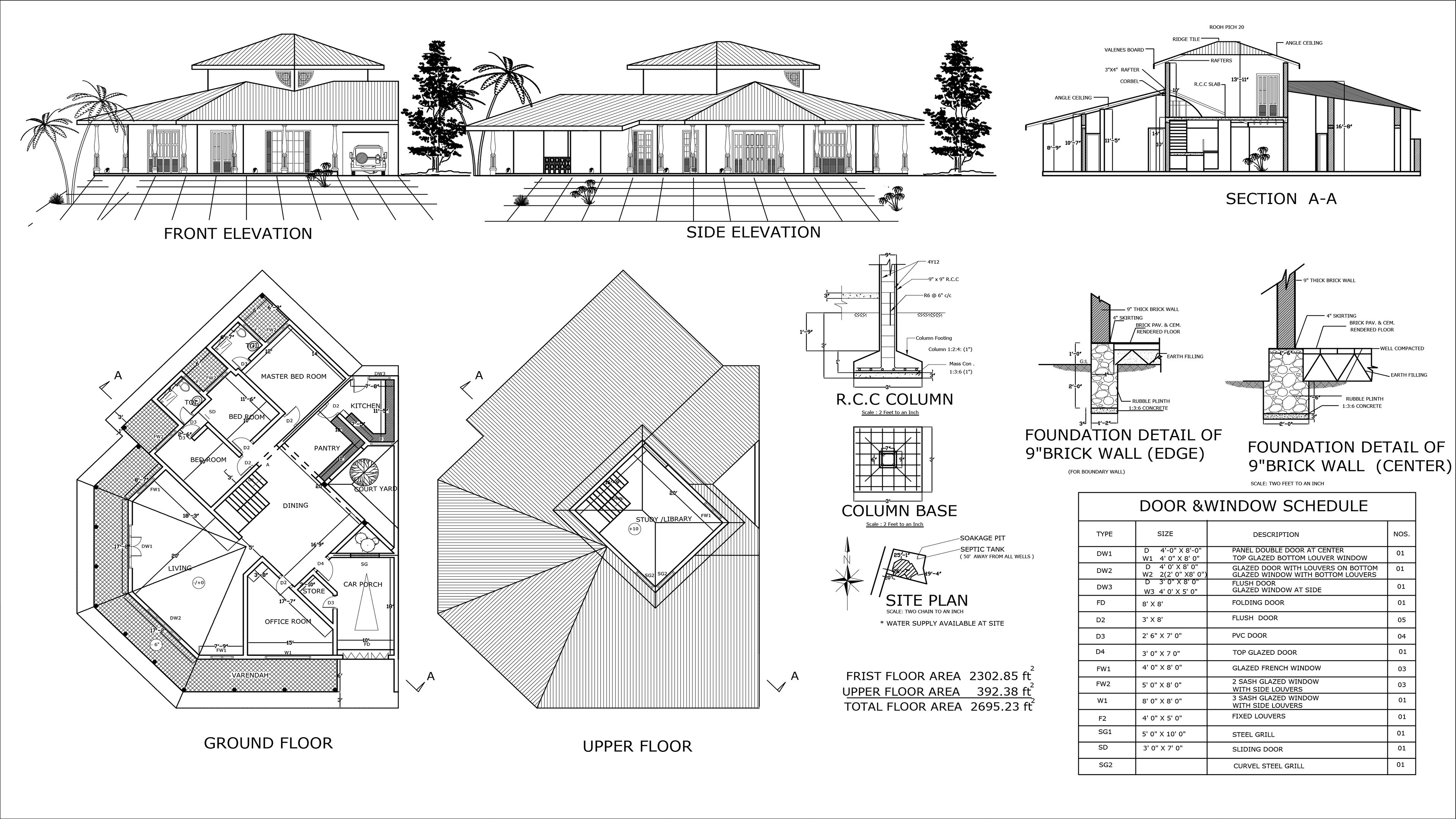 Draw Your Floor Plan Elevations And Sections By Hashan2020 Fiverr