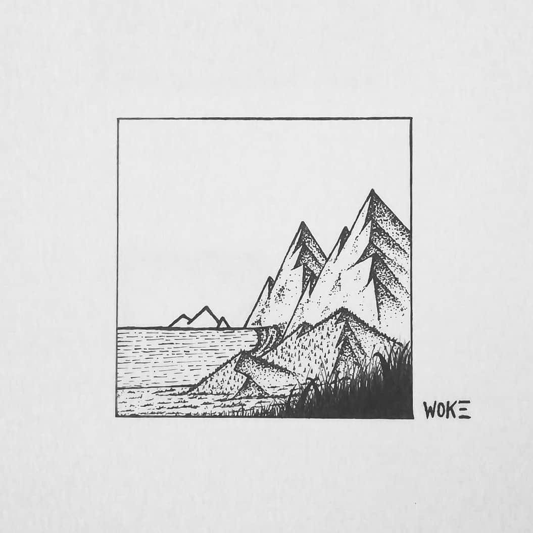 Hand Draw A Black And White Minimalist Drawing For Logo Or Merch By Heartbrokensoul