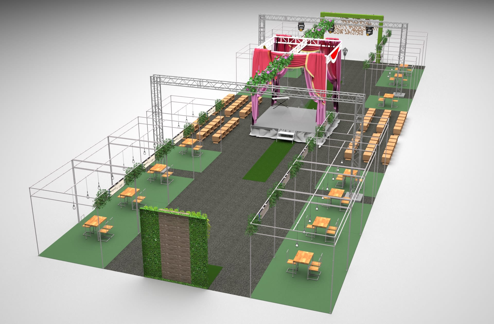 Event Layout Plan 3d Layout Rendering And Animation By Vsdesignstudio Fiverr