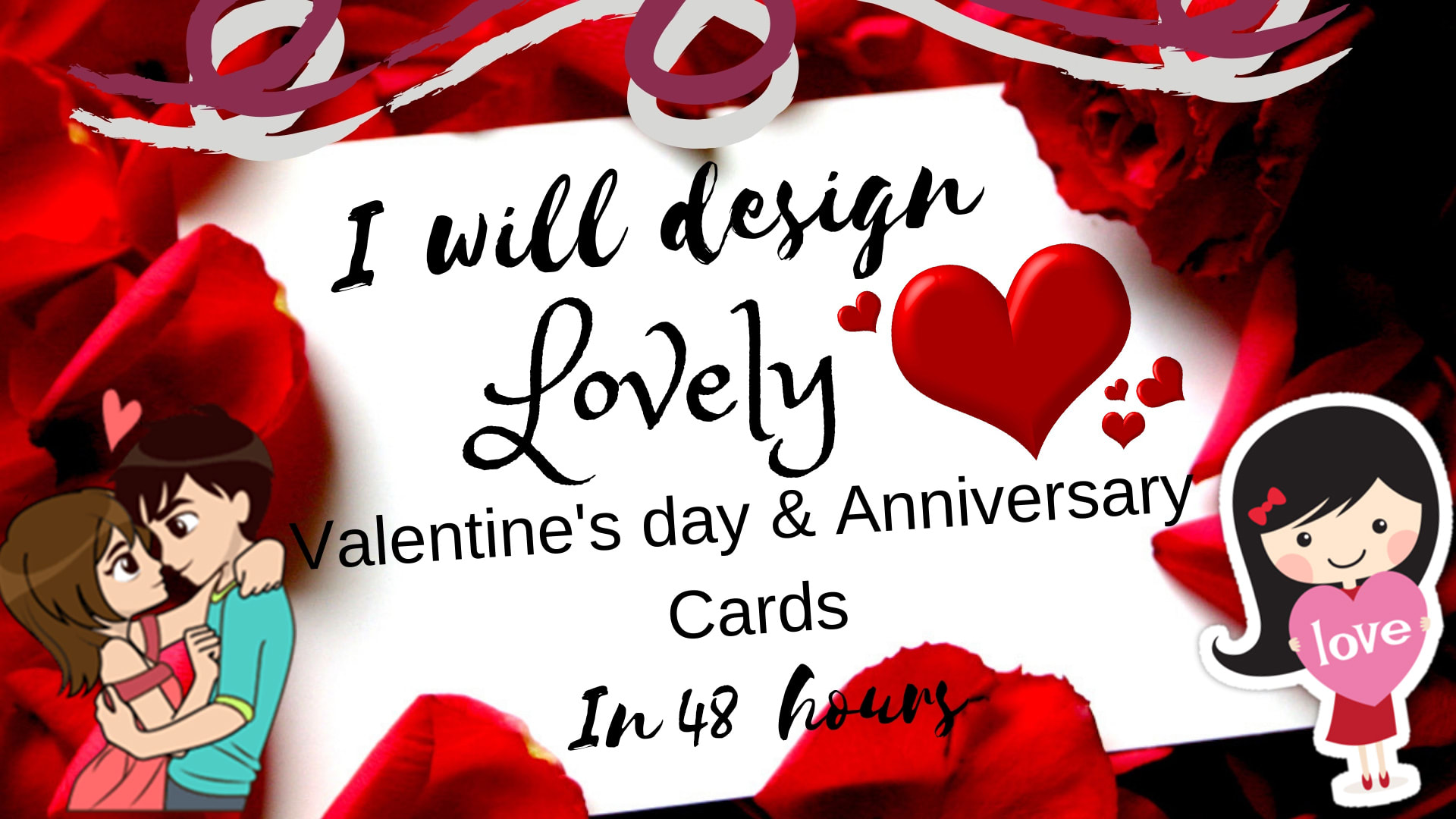 Design lovely valentine and anniversary cards in 48 hours by Ishues