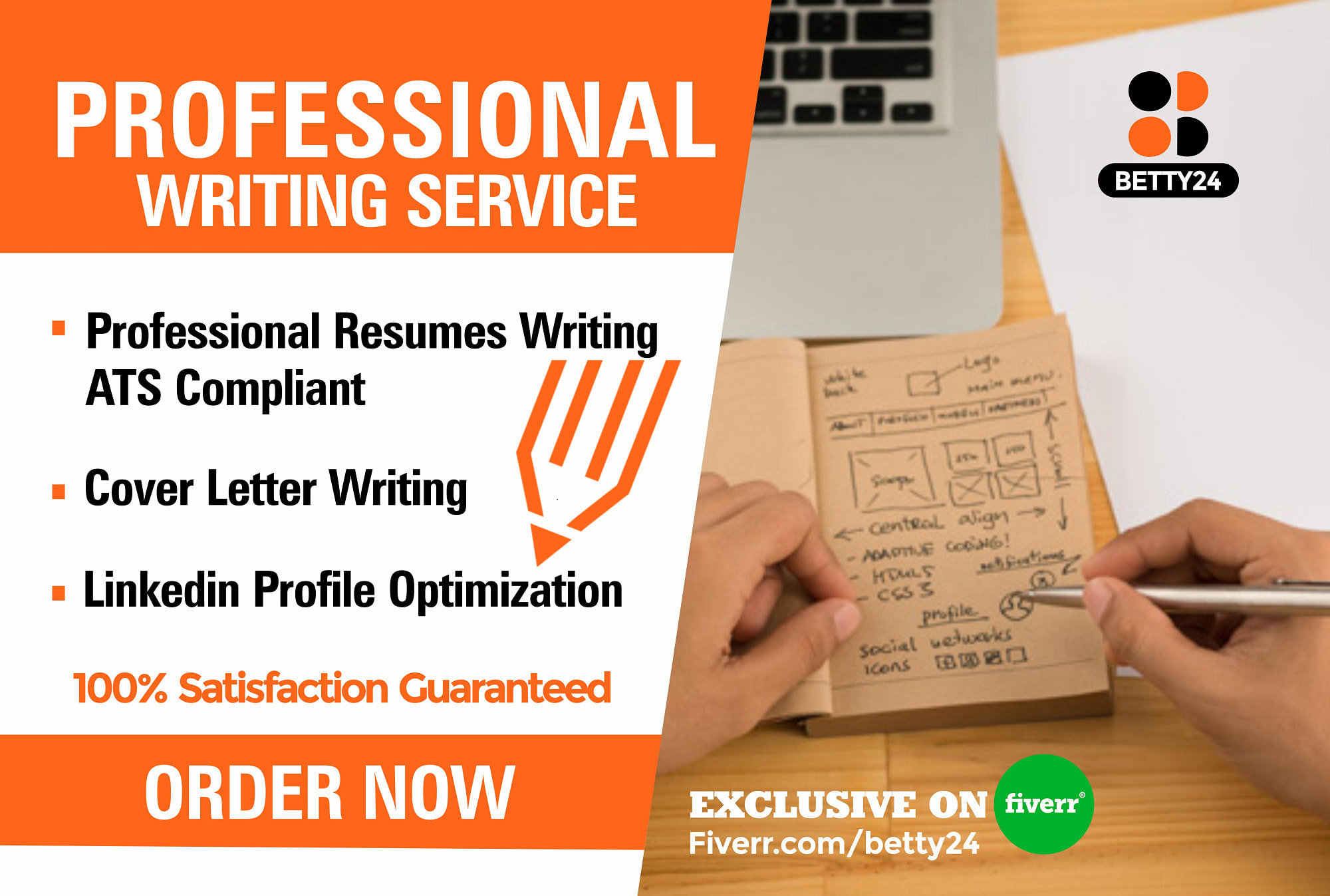 write and design professional resume and cover letters