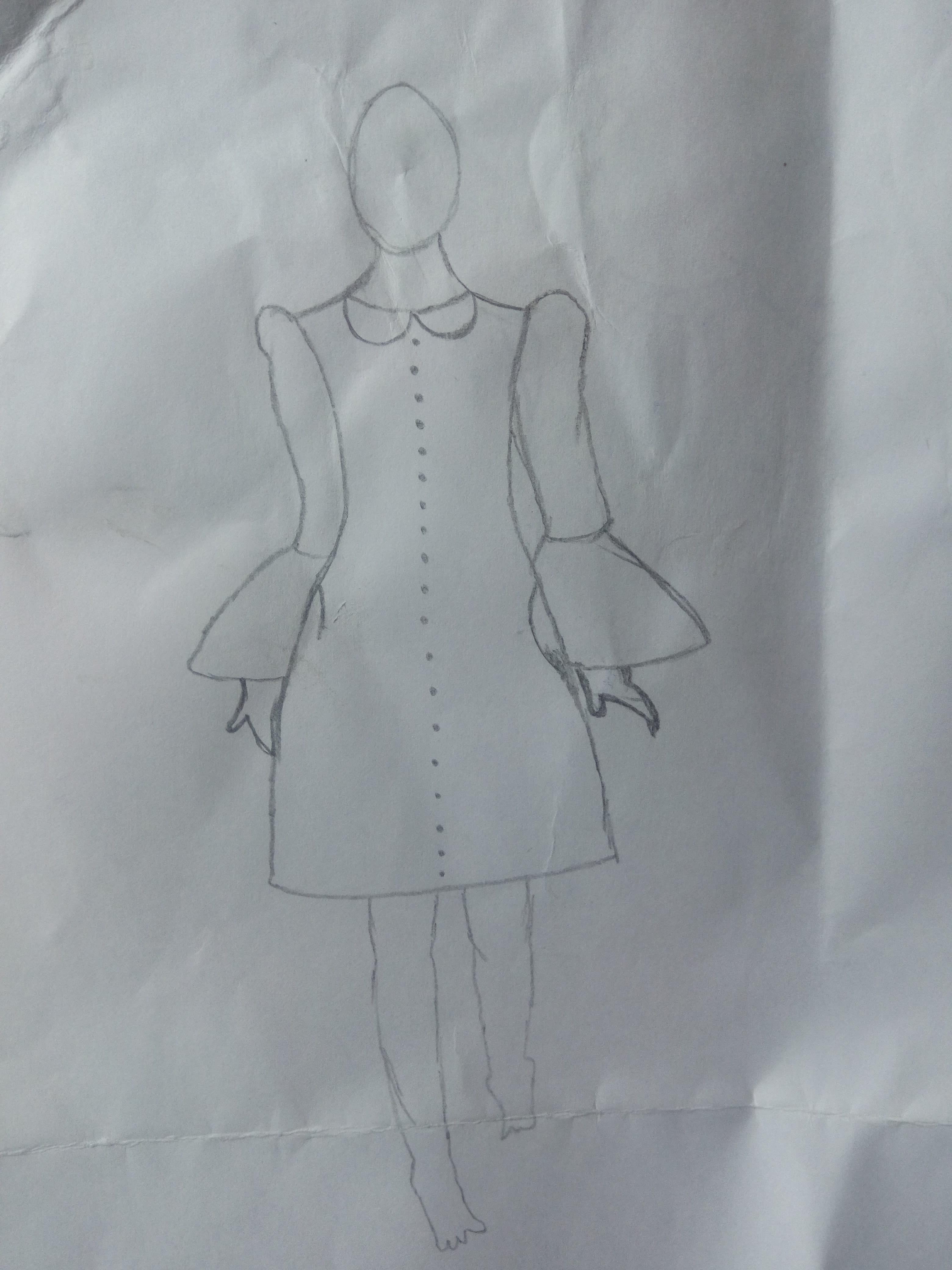 Design Pencil Drawing For Fashion By Wkawshalya