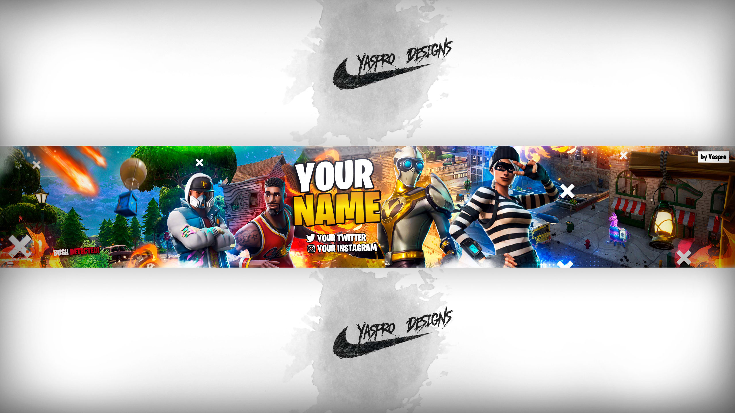 Banner template fortnite psd by Yaspro_21yt  Fiverr With Banner Template For Photoshop
