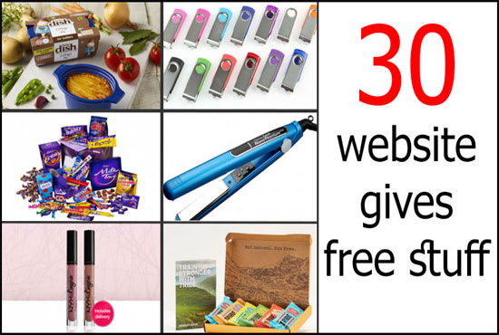 give you 30 secret websites that gives free stuff