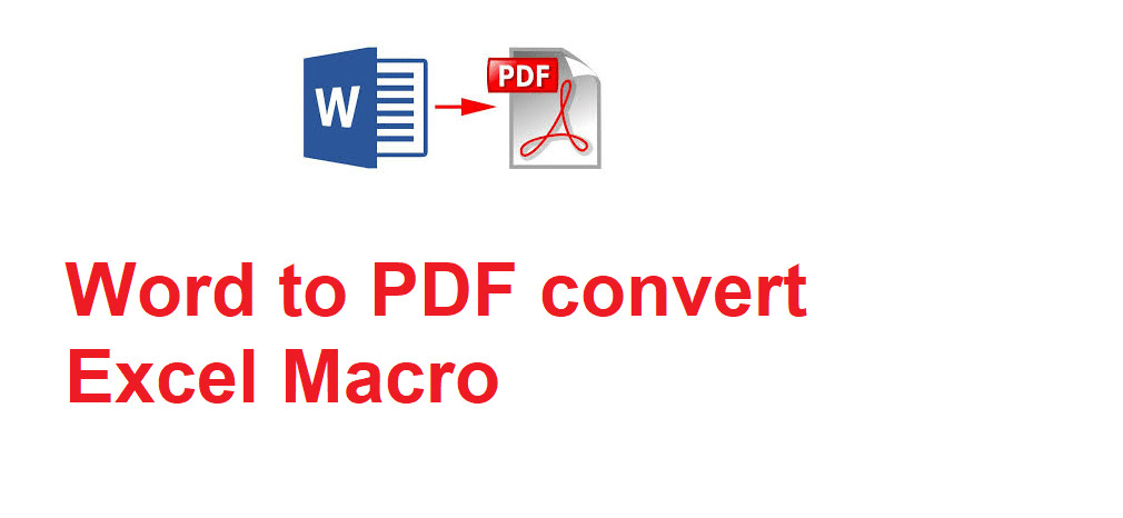 convert excel file to pdf macro