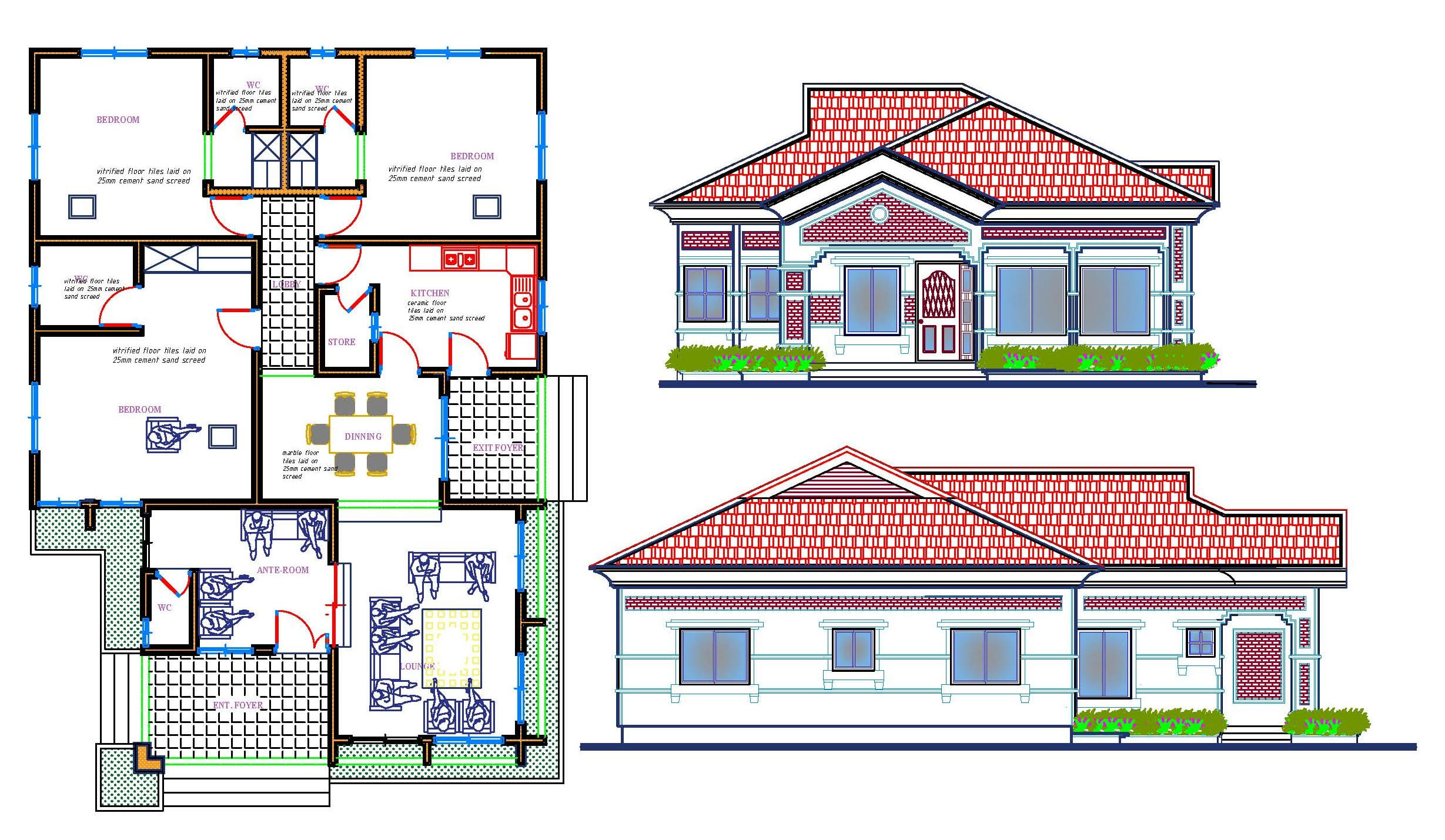 Design Architectural Floor Plan Elevation And Section By Briandesign Fiverr