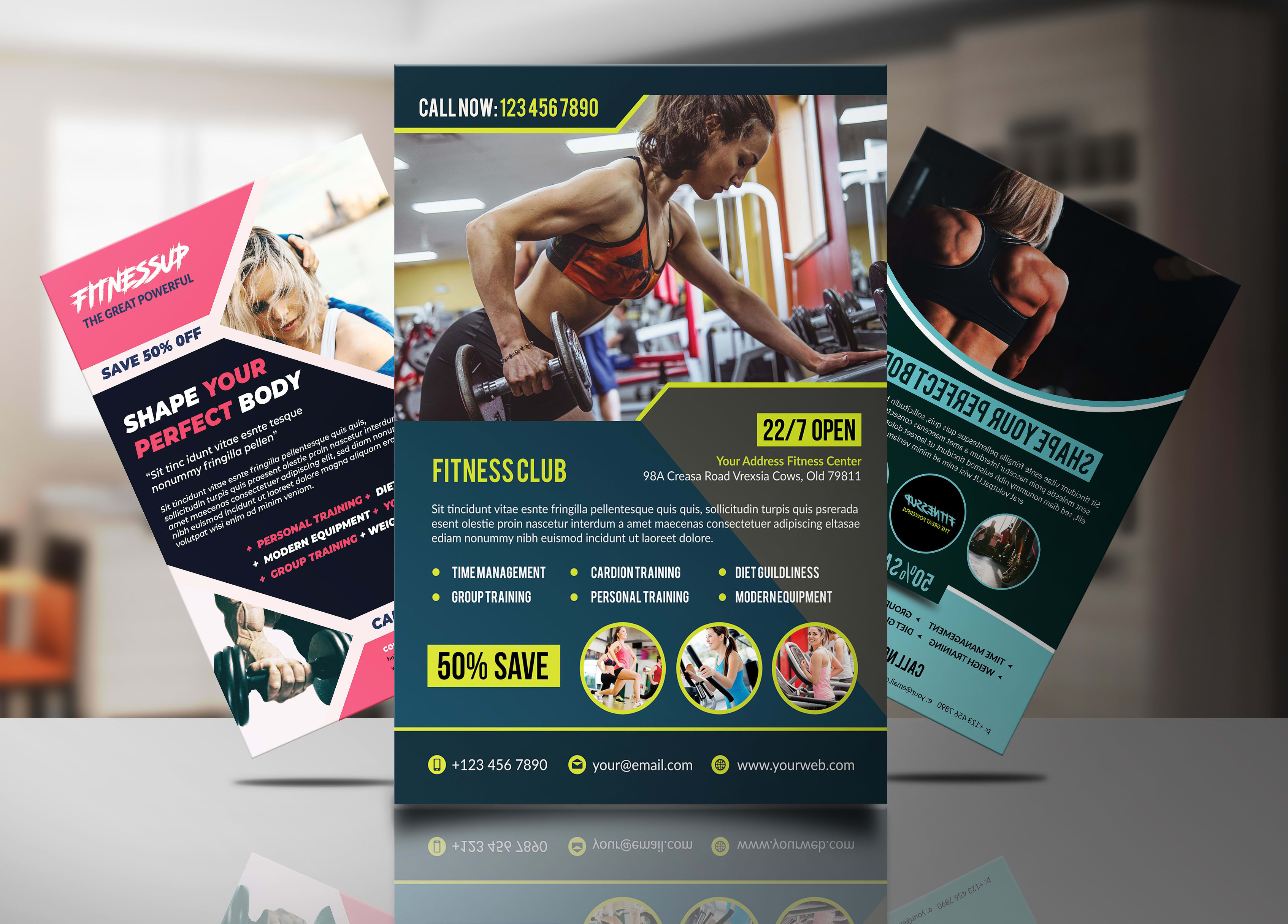 design gym and fitness flyers
