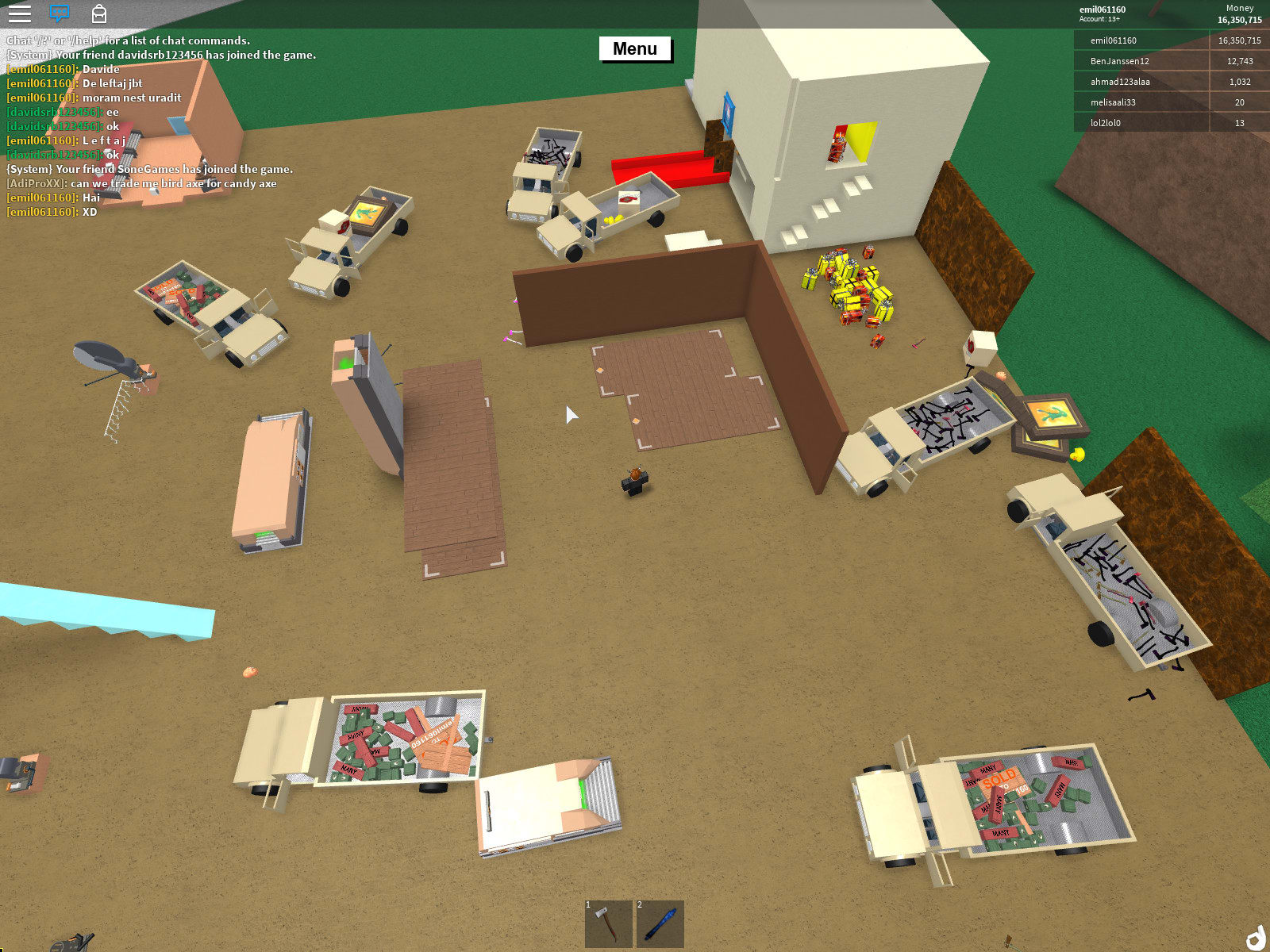 Sell You My Gifts End Times Planks Cash On Lumber Tycoon 2 By